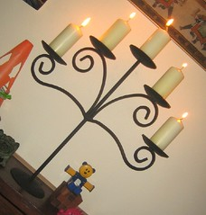 Candelabra on mantle