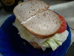 BLT: Lettuce, Tomato, and Butter Sandwich