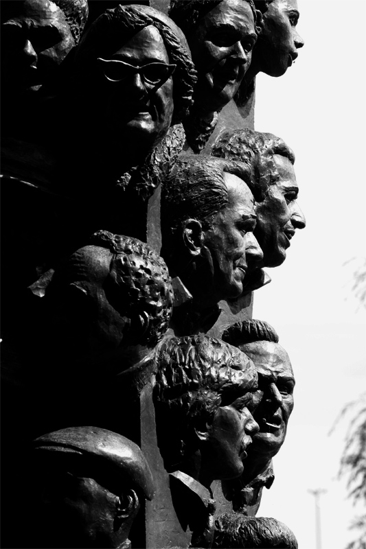 Heads in a memorial - Boston, MA