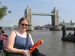 The sock at Tower Bridge