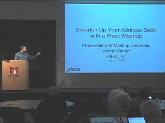 Plaxo talk at Mashup University