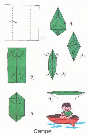 canoe origami