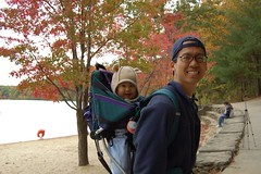 Daddy and me at Walden Pond