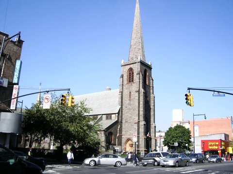 Picture of the church in Flushing, NY