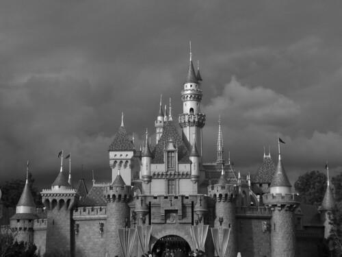 Sleeping Beauty Castle Disneyland   169  Photo by DisneyKrayzieDisney Castle Black And White