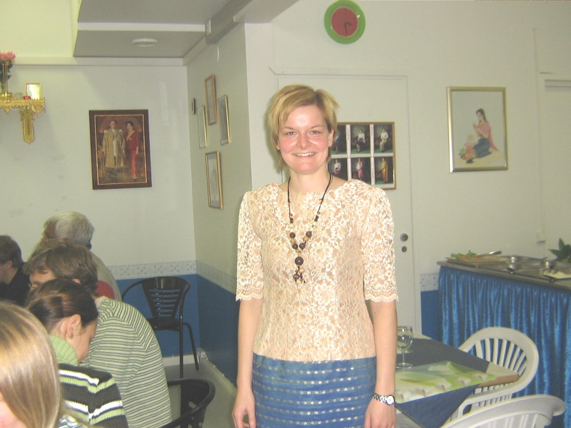 Kerstin models another Thai dress