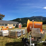 9/16/16 Orange is our favorite fall color - new snowmaking equipment arriving weekly!