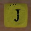 Coloured bead letter J