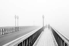 Fog, Skeppsholm Bridge photo by Hannes R