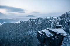 before sunrise at Bastei photo by skoeber