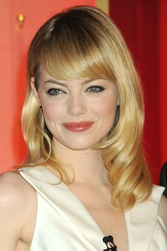Emma Stone with vintage bangs