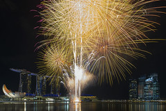 Fireworks at Marina Bay Sands Singapore photo by David Gn Photography