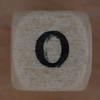 Wooden bead letter O