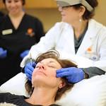 Dr. Taub massaging Sculptra