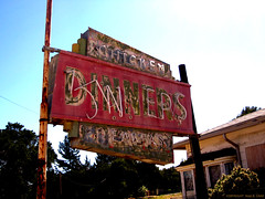 STREETCAR Diners - Front Sign - Buellton, CA. - Abandoned photo by BudCat14/Ross