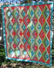 Fire Drill Quilt Top - Playing with stripes photo by BGelhausen