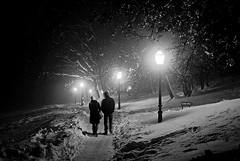 Couple walking at night photo by my moon blue