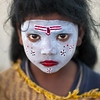 Little girl with make up in Kumbh Mela, Allahabad, India photo by Eric Lafforgue