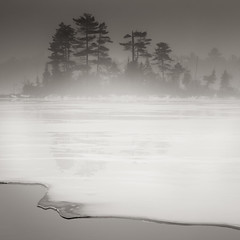 Spring Thaw Ice Fog Maine photo by Nate Parker Photography