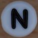 White Bead letter N