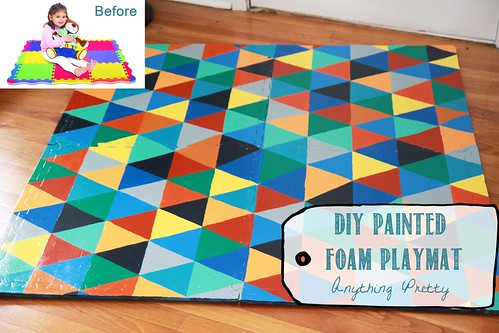 diy painted foam play mat — anything pretty