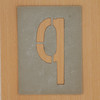 Waterproof card stencil letter q