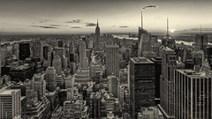 New York - Grand Panorama - Sepia photo by 1982Chris911 (Thank you 3.000.000 Times)