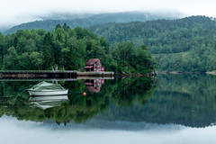 Reflection and fog [Explore #6] photo by Richard Larssen