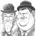 Two Men Caricature