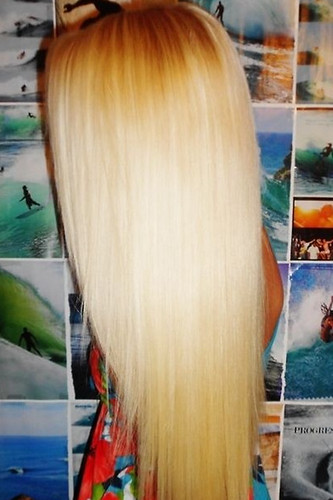 perfect straight blond beach hair