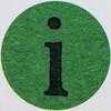 Vintage Sticker Letter i