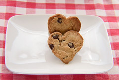 Chocolate Chip Heart Shape Cookies photo by Chelle Caldwell