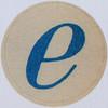 Vintage Sticker Letter e