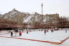 Ice Hockey at 3500 m ASL photo by Partha