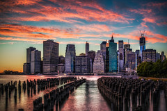 Manhattan Skyline Sunset photo by Justin in SD
