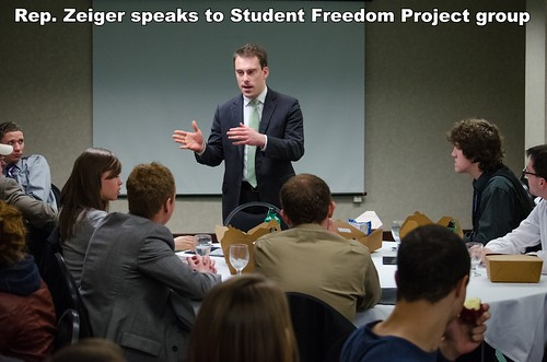 Rep. Zeiger speaks at Student Freedom Project Day