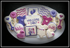 Pink/Purple Baby Shower photo by missy's cookies