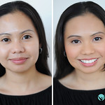 Before and after airbrush mineral makeup.