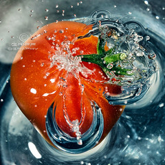 Freeze 'Soaked' Tomato (Explored 27th February 2013) photo by Griff~ography