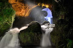 Rouken Glen Waterfall At Night photo by Click And Pray