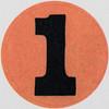 Vintage Sticker number 1