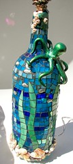 """""""Octo-Bottle"""" recycled light photo by Glass Garden Creations / Sharon Kelly"""