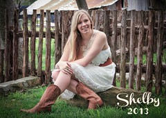 My first photo shoot of a high school graduate - Shelby. photo by heackersgirl