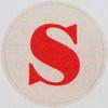 Vintage Sticker Letter S