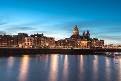 Amsterdam after sunset photo by Pahas.