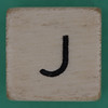 Spill and Spell Dice Letter J
