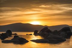 Sand Harbor Lake Tahoe Sunset photo by Mark Zukowski