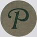 Vintage Sticker Letter P