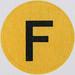 Vintage Sticker Letter F