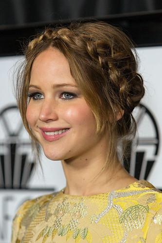 Jennifer Lawrence braided updo
